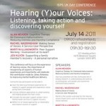 ISPS UK Conference Hearing (Y)our Voices