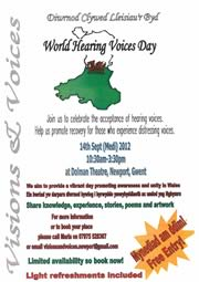 Welsh Hearing Voices Day Event Flyer