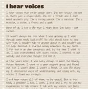 I Hear Voices Too Excerpt