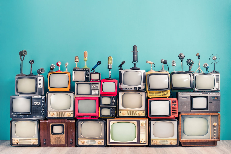 Stack of TVs